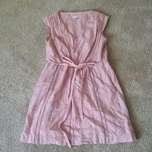 J. Crew pink cotton dress
